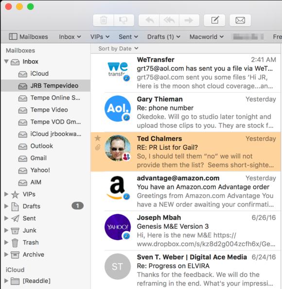 mailbutler message list avatars