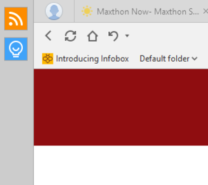 maxthon upper left