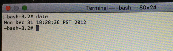 osx boot install error terminal old date