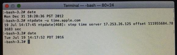 osx boot install error terminal set date auto