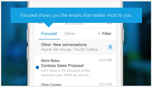 Focused Inbox is coming from Outlook mobile app to the desktop