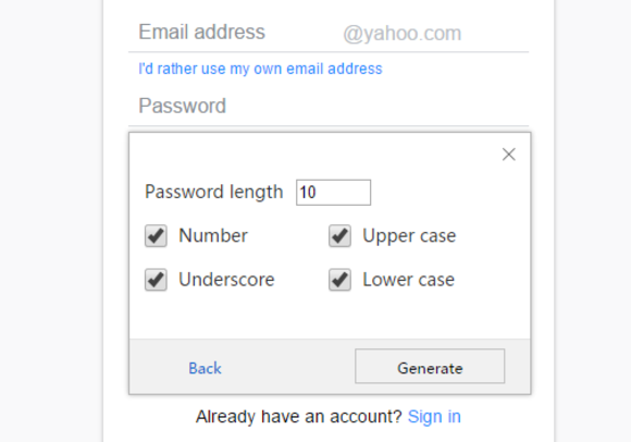 Maxthon passkeeper password options