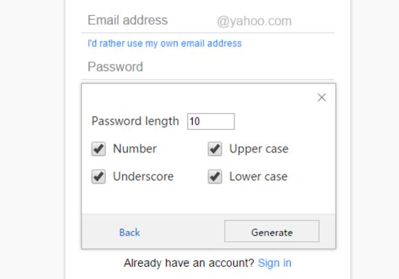 Maxthon passkeeper password options