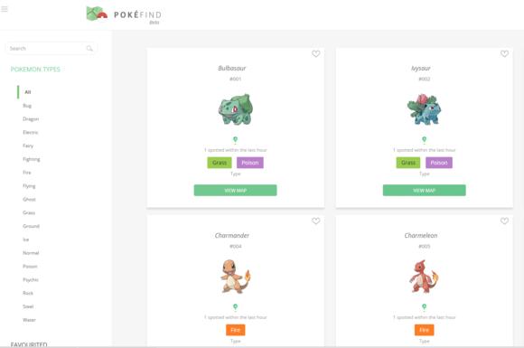 pokefind pokemon go map