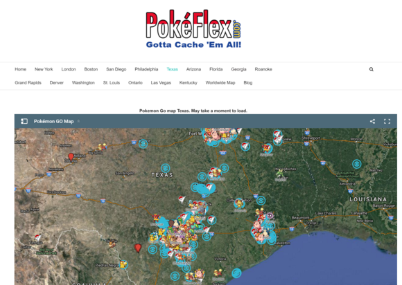 pokeflex map texas