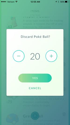 pokemon go drop pokeballs