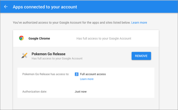 Pokémon Go for iOS will stop requiring full Google account access