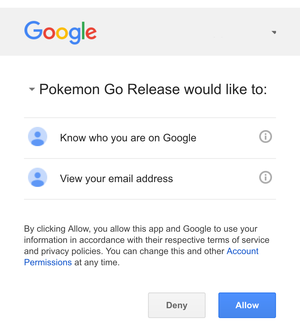 pokemon go update google disclosure