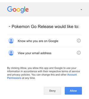 pokemon go update google disclosure