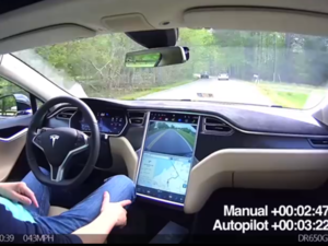 Self-driving car Tesla