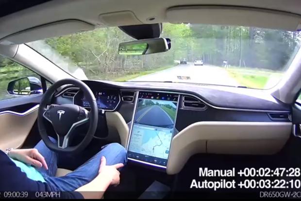 Self-driving car Tesla