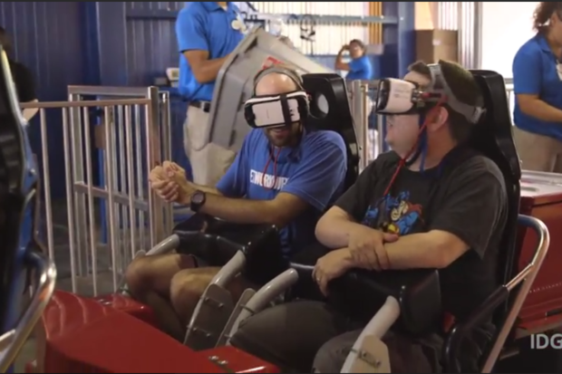 keith brandon VR roller coaster Six Flags Superman