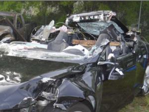 Tesla Model S fatal crash