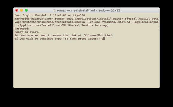 sierra beta boot terminal 002