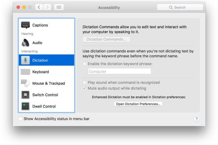 sierra beta heysiri accessibility dictation
