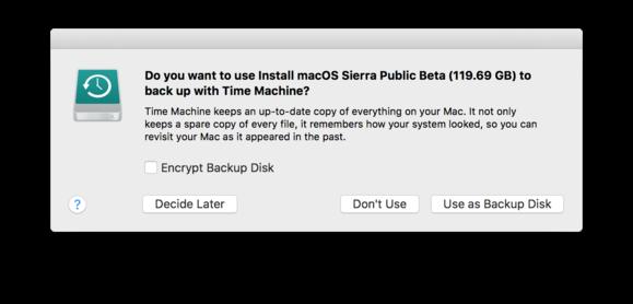 sierra drive time machine