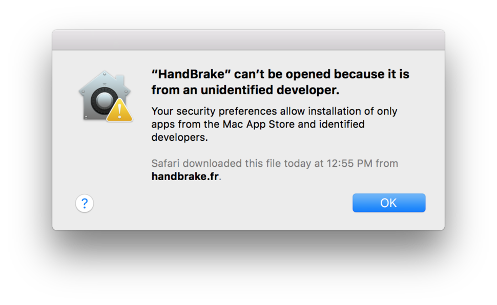 mac cant open the application because it is not supported on this architecture