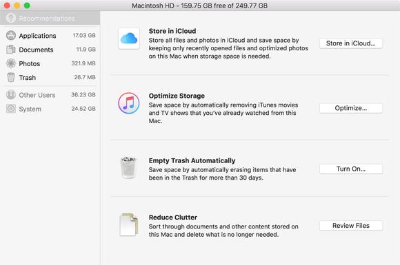 sierra optimized storage options