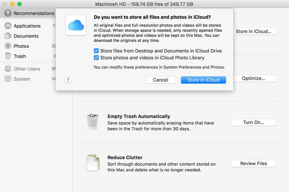 How To Use Optimized Storage In Macos Sierra Macworld