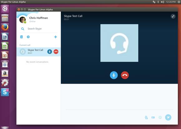 Skype for Linux Alpha on Ubuntu 16.04.