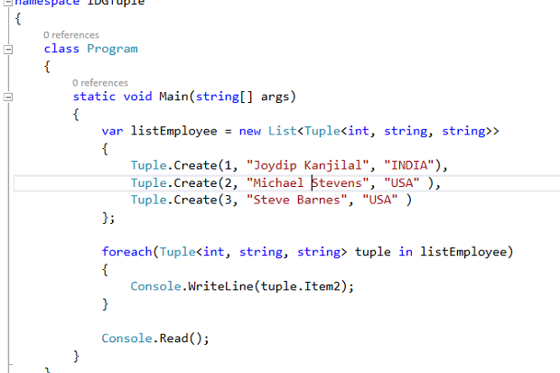 How to work with a Tuple in C# | InfoWorld