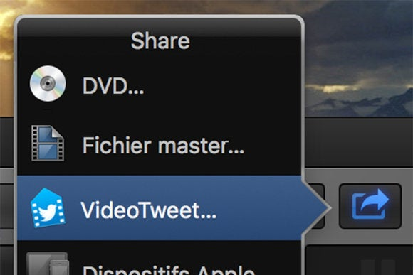 videotweet fcpx share