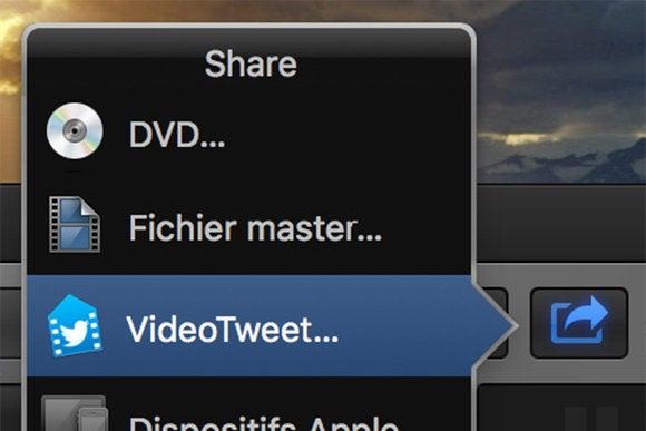videotweet fcpx share