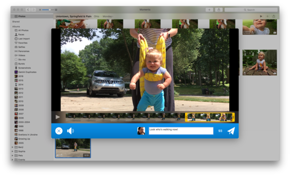 videotweet from os x photos