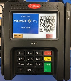 walmart pay pos display
