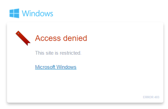 what users want windows 10 site restricted