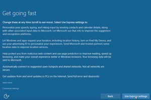 windows 10 install express settings