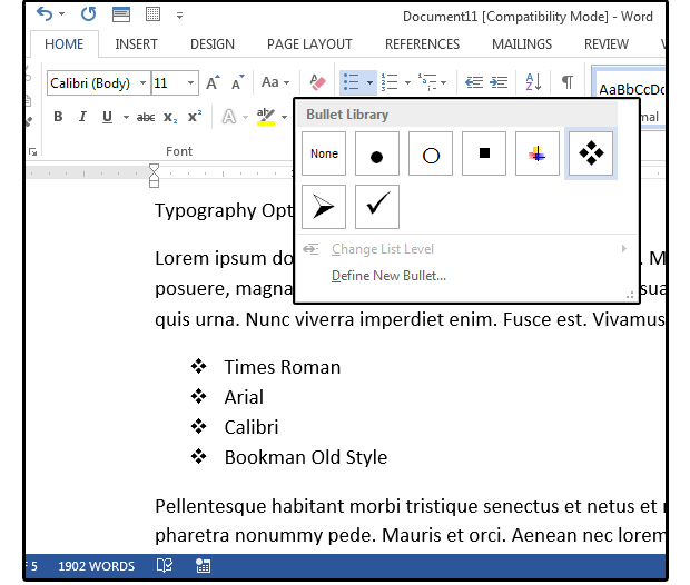 How to make Word custom bullet points to enhance your documents