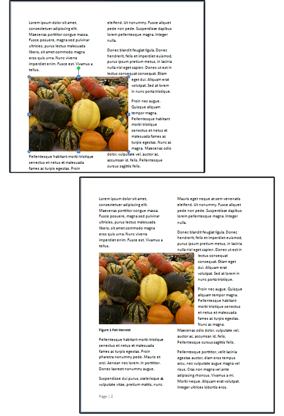 10 use the resizing handles to alter the image size then watch the text wrap around the photo