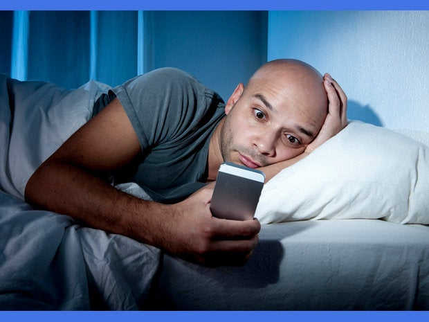 Facebook in bed