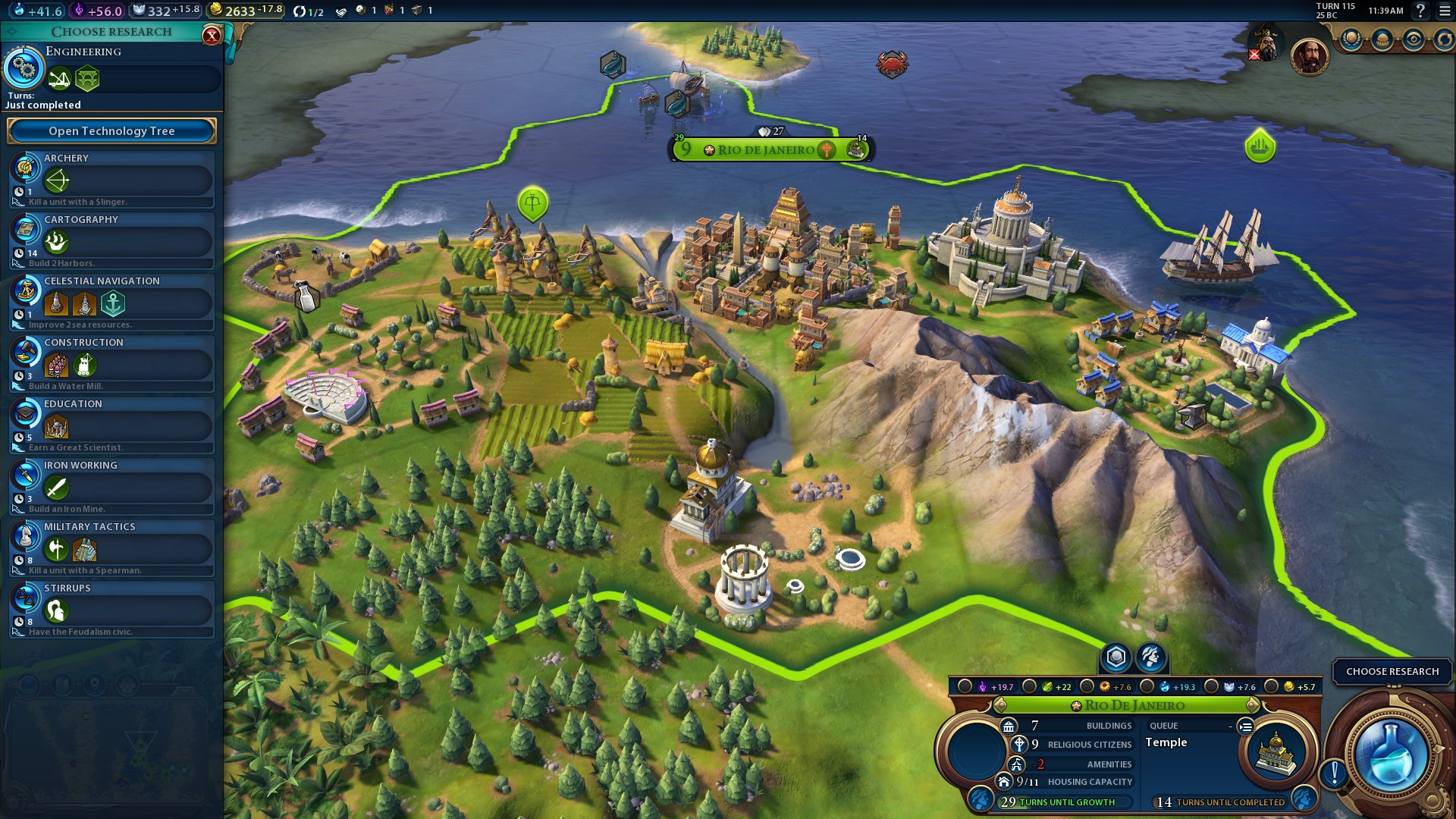 150 turns with Civilization VI: Active Research and civics