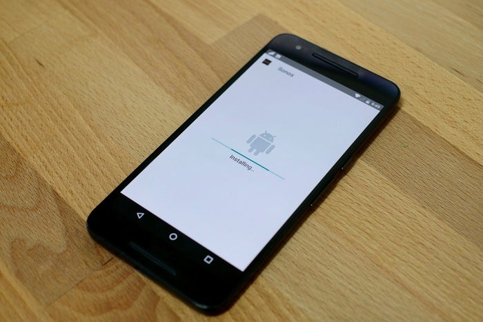 android nougat 7.0 app installer animation