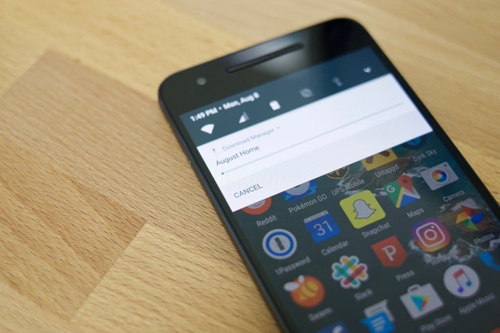 android nougat 7.0 cancel app downloads or updates