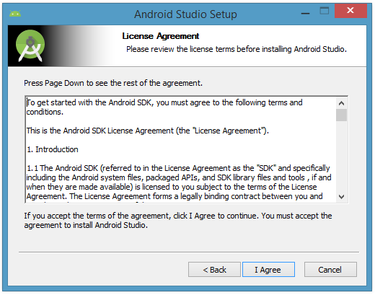 Accept the license agreement to continue installation.