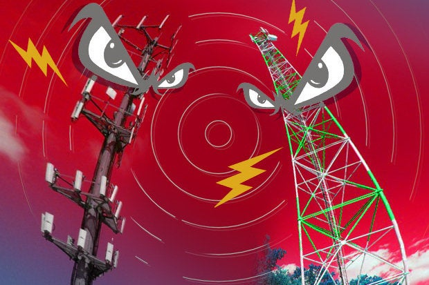 angry cell towers