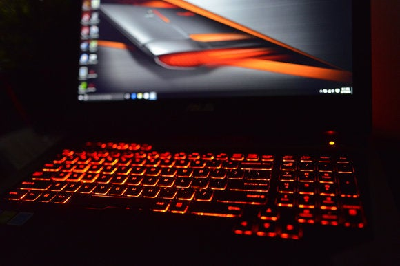 Asus ROG G752VS-XB72K Game Center Keyboard Backlighting