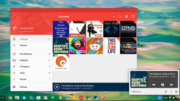 chromebook android apps pocket casts
