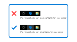 edge highlighted