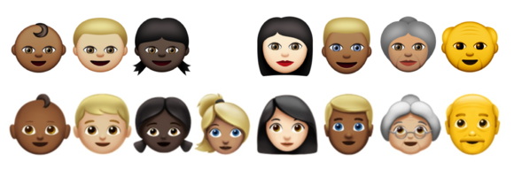 emoji ios10 faces old and new