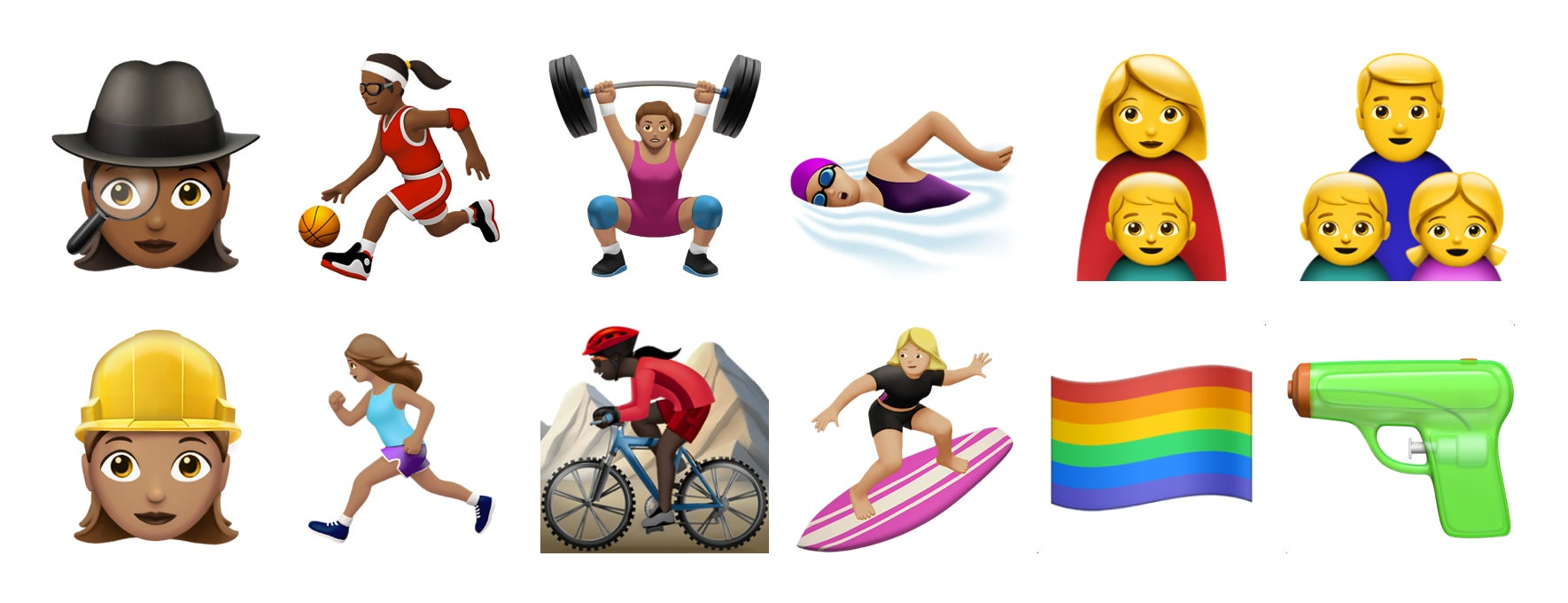 c9e4964256952 New emoji add gender parity and a more realistic drawing style in iOS 10  and macOS Sierra