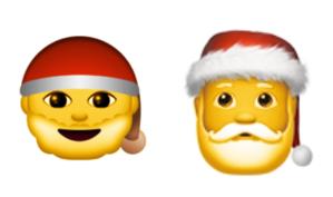 emoji ios10 santa contemplates