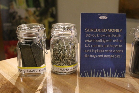 ford sustainability shredded money