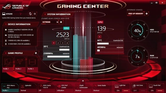 Asus ROG G752VS-XB72K Game Center 2