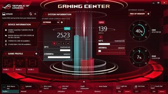 Asus ROG G752VS-XB72K Game Center 2