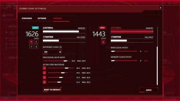 Asus ROG G752VS-XB72K Game Center