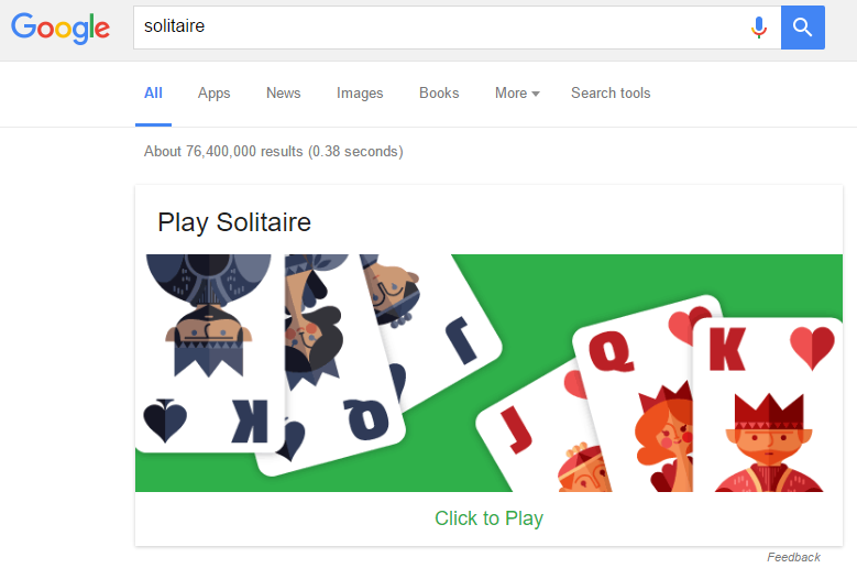 Image result for GOOGLE solitaire